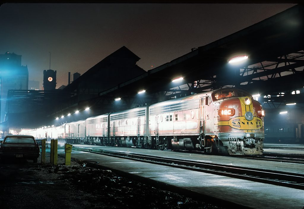 Kansas City Chief passenger train at Dearborn Station Chicago Illinois USA on February 5, 1968