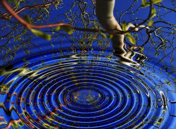 Zen water ripple