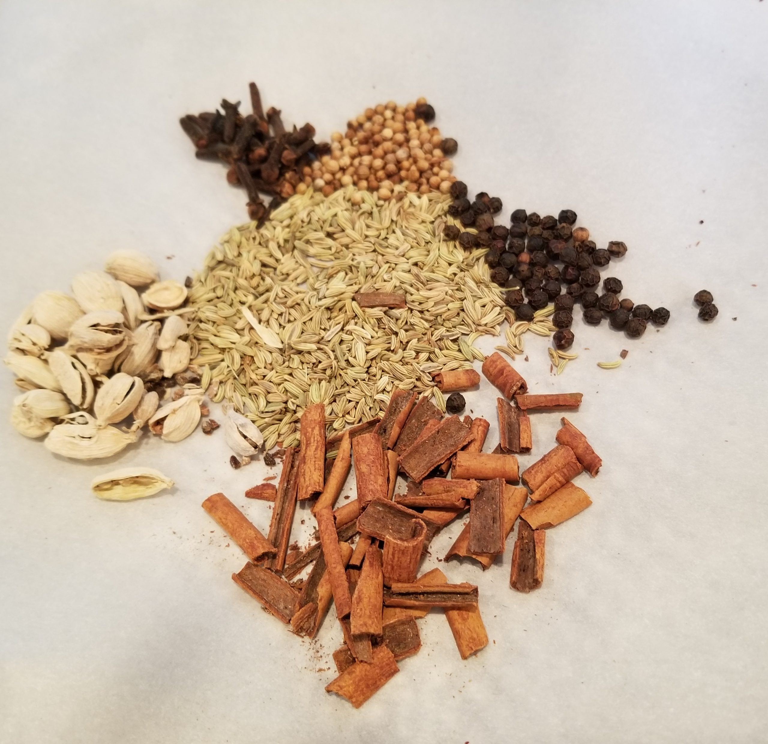 whole herbs used in chai tea recipe